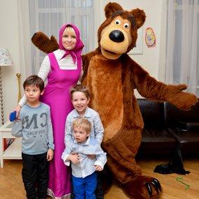 Маша и медведь - праздник для мальчика дома